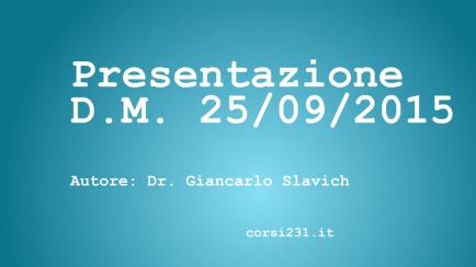 video presentazione D.M. Giancarlo Slavich
